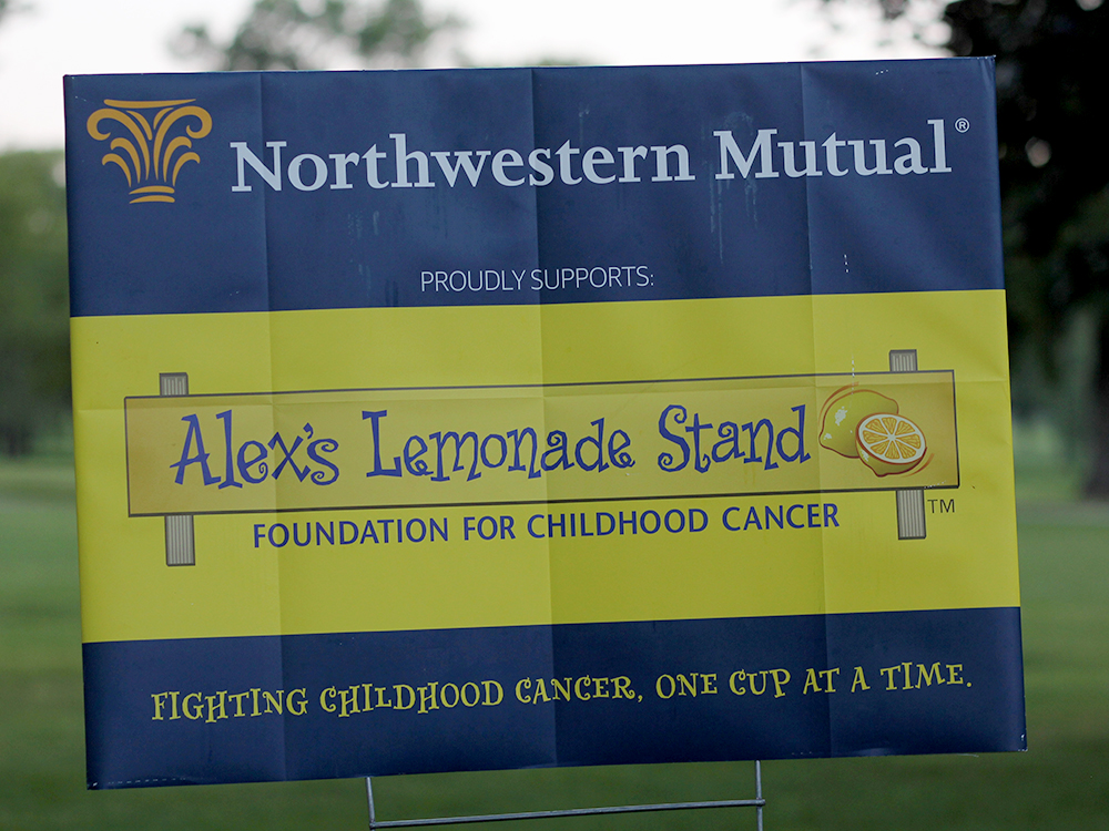 Alex's Lemonade Stand sign